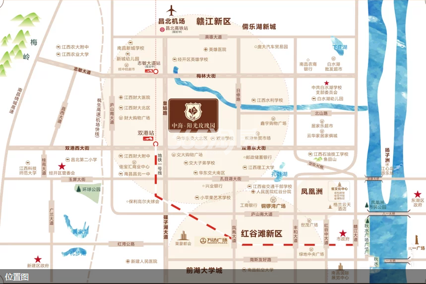 中海阳光玫瑰园交通图