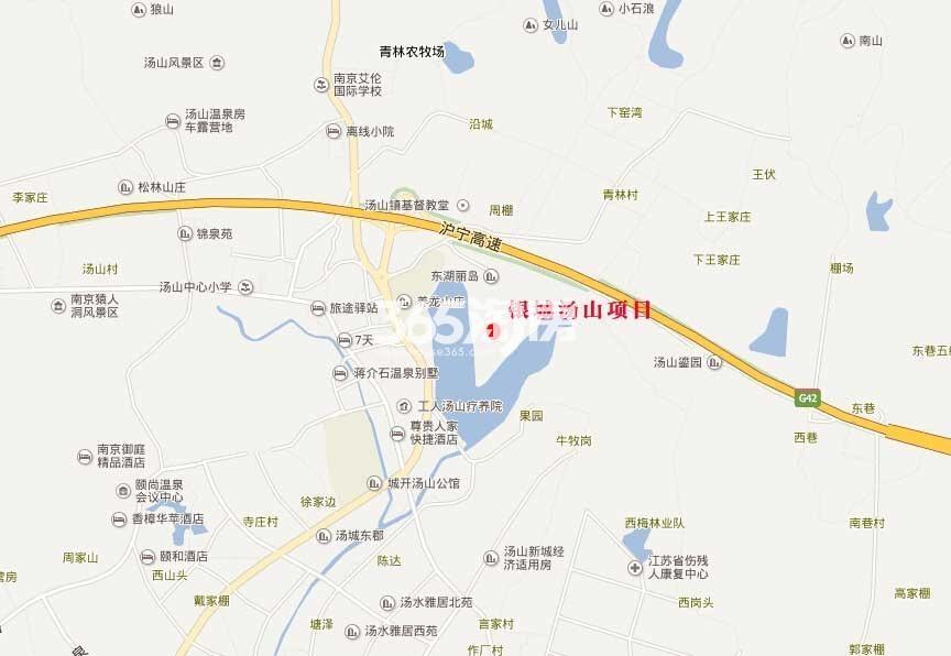 银城汤山项目交通图