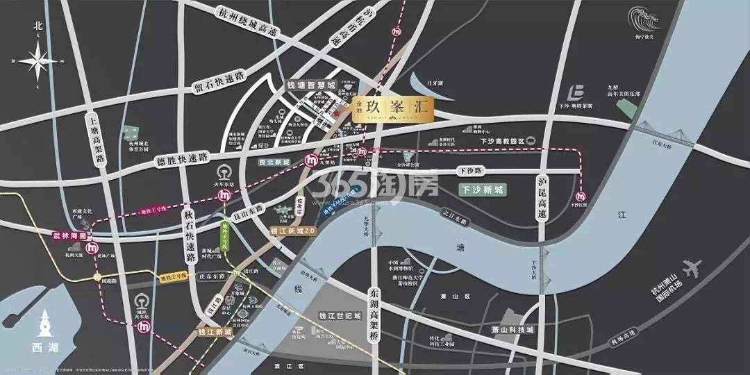 金地玖峯汇交通图