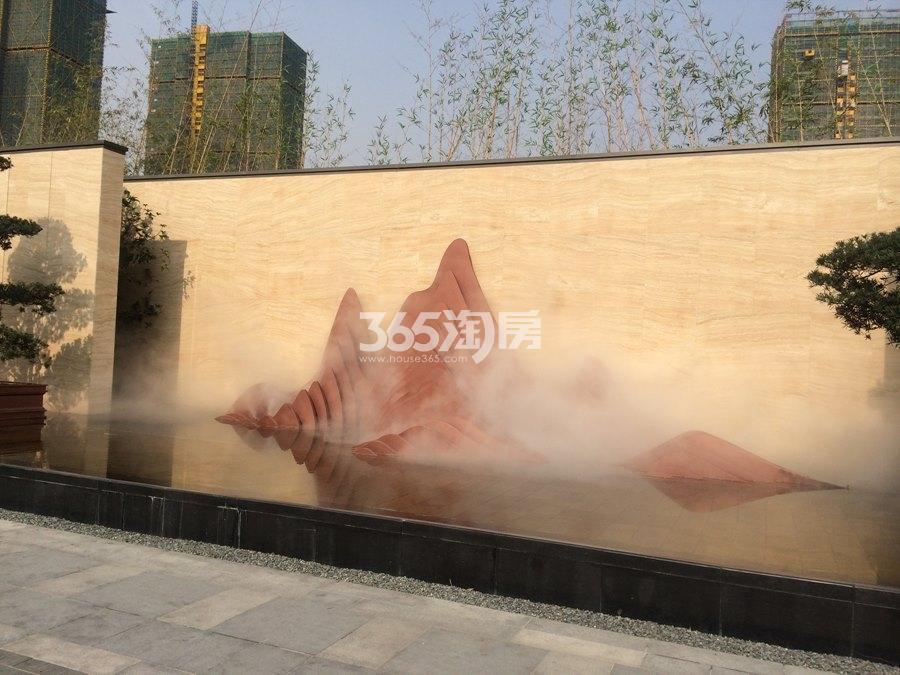 新城香悦公馆售楼处外景实景图 2017年12月摄