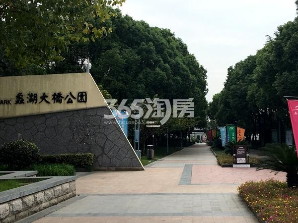 苏宁悦城周边配套——蠡湖大桥公园