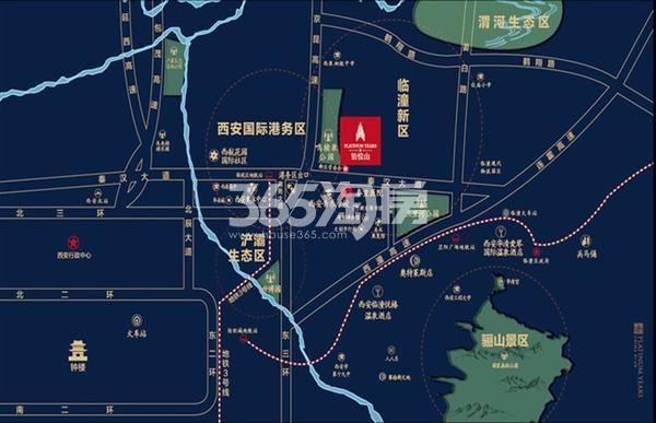 隆基泰和铂悦山交通图