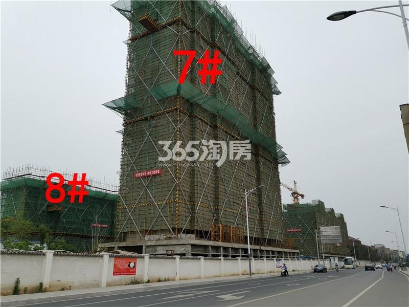 绿地理想城悦湖公馆在建7、8#楼实景图(6.25)