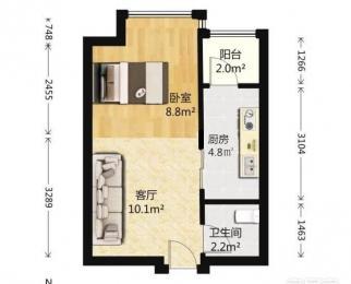 国耀花半里1室1厅1卫50平米