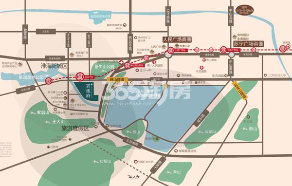 雲珑府交通图