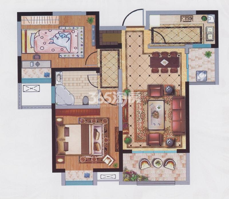 宝能城10#楼约90平户型