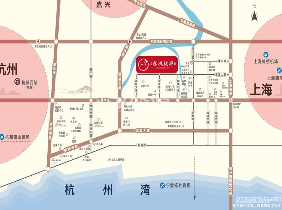 蓝城·春风桃源里交通图