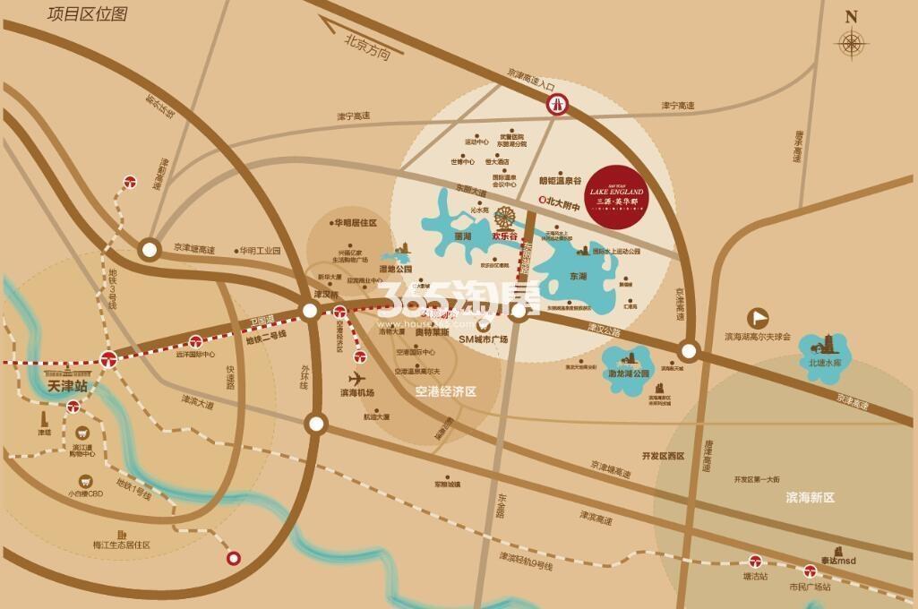 三源英华郡交通图