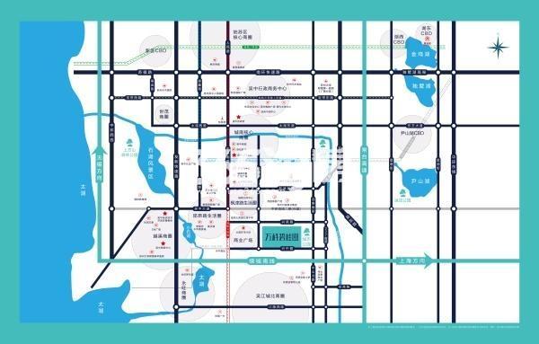 万科碧桂园交通图