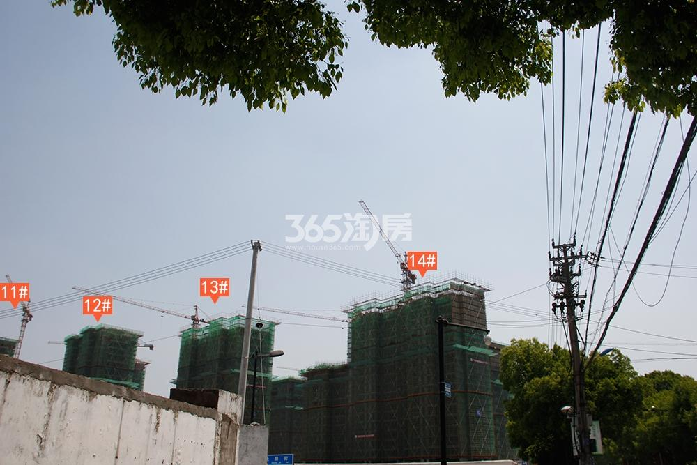 苕溪壹号11-14号楼工程进展(2018.4摄)