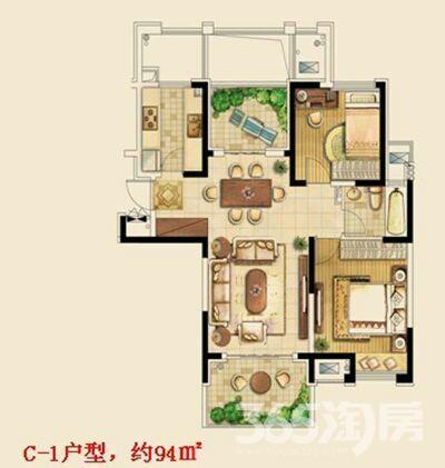 金东城世家3室2厅1卫96平米2016年产权房简装