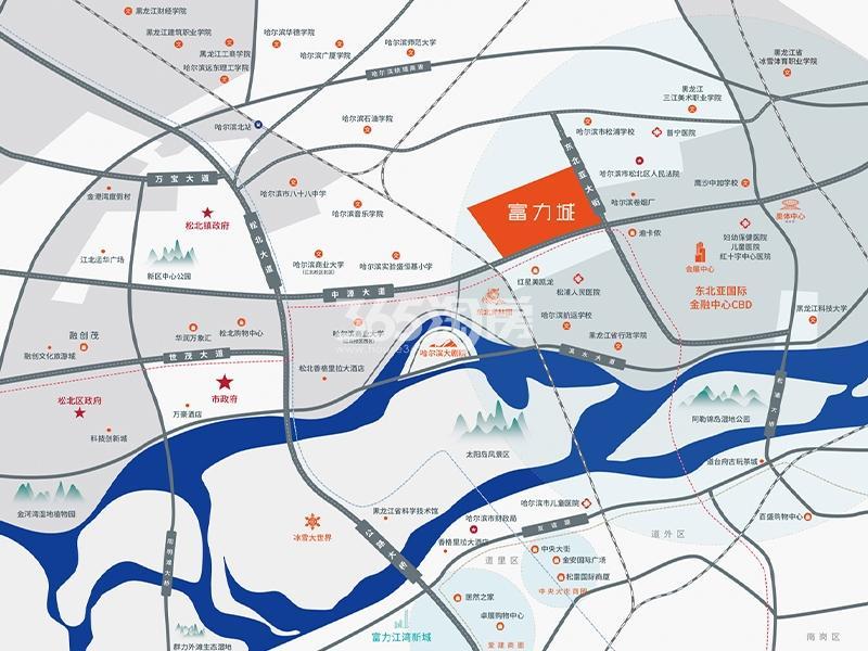 富力城交通图