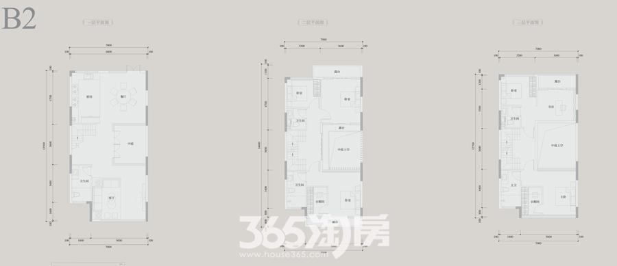 安展蔚然家园B2约233平别墅户型图