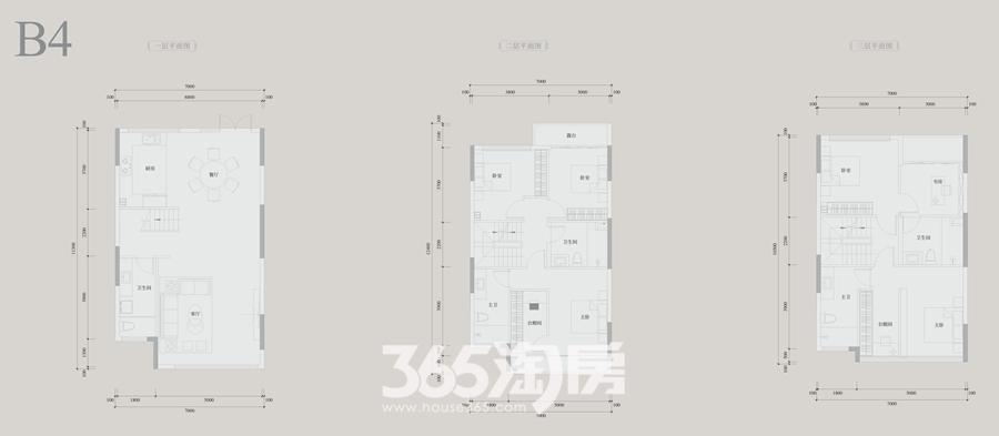 安展蔚然家园B4约225平别墅户型图