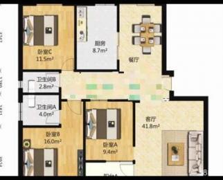 香格里拉花园二期3室2厅2卫126平米