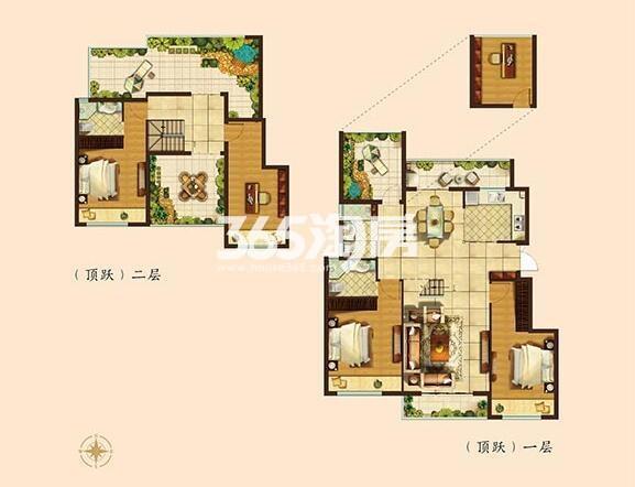 165平方米墅级洋房五房三卫