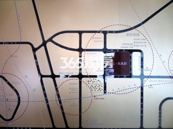 华仁凤凰郡交通图