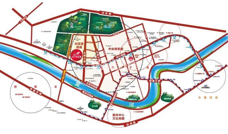 安宁碧桂园交通图
