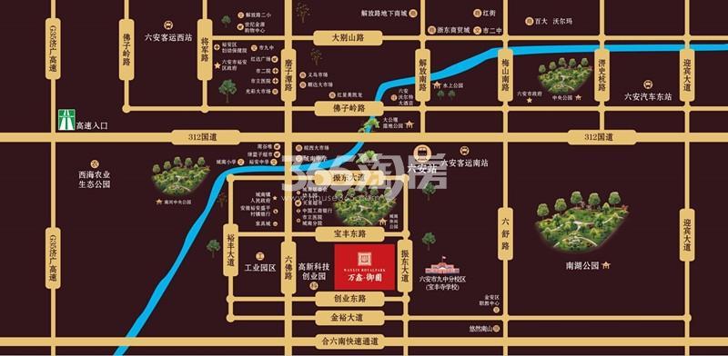 万鑫·御园(住宅)交通图