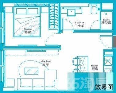 星湖街地铁口 乐嘉大厦酒店式一室一厅出租 看房方便