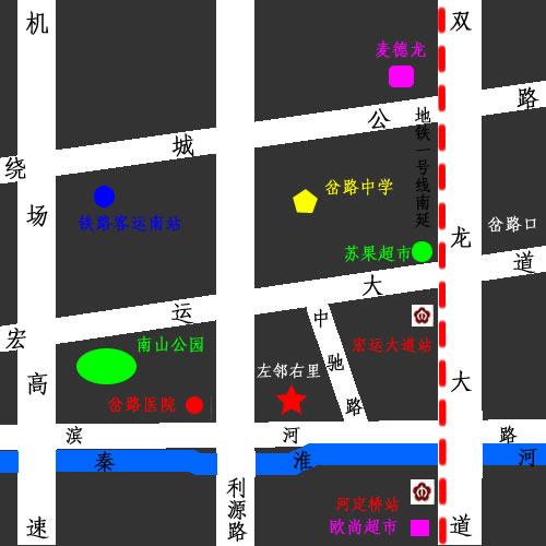 左邻右里交通图