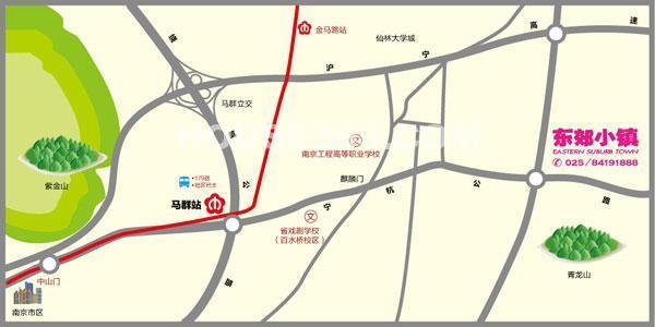 东郊小镇交通图