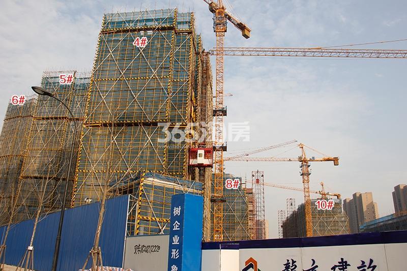 中国铁建西湖国际城高层4-6、8、10号楼实景图(2018.1)