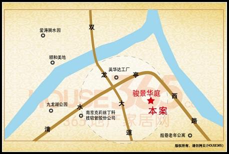 骏景华庭交通图