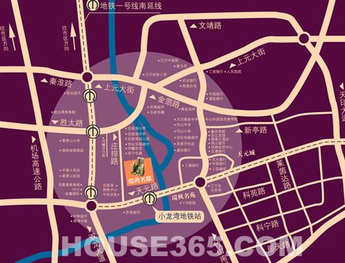 瑞鸿名邸交通图
