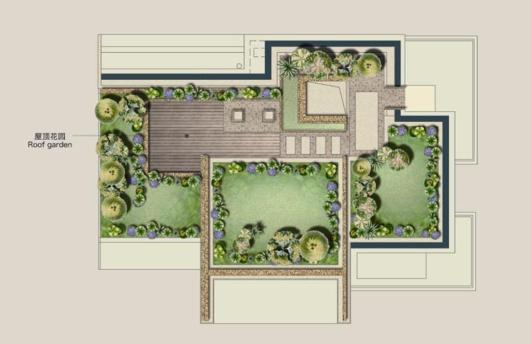 科技别墅g1户型屋顶花园