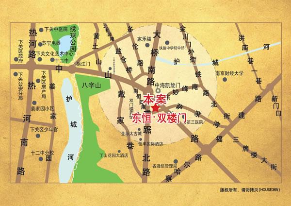 中山骏景交通图