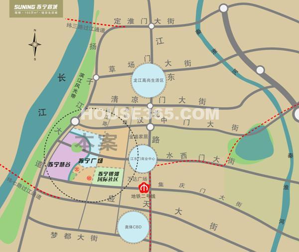 苏宁睿城交通图