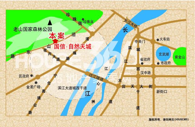 国信自然天城交通图