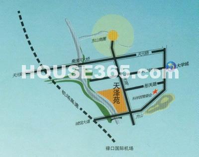 天泽苑交通图