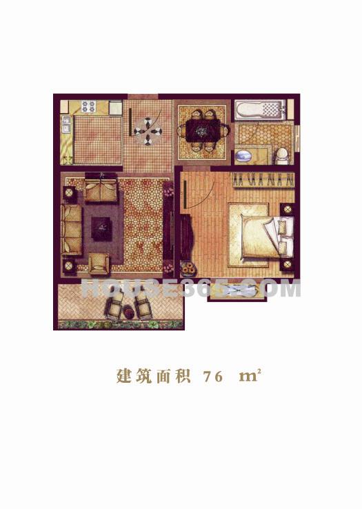 毓龙湾国际度假村湖景小高层户型图