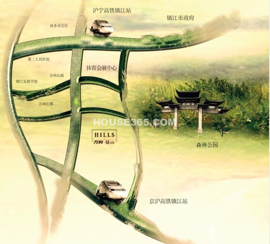 万科蓝山交通图