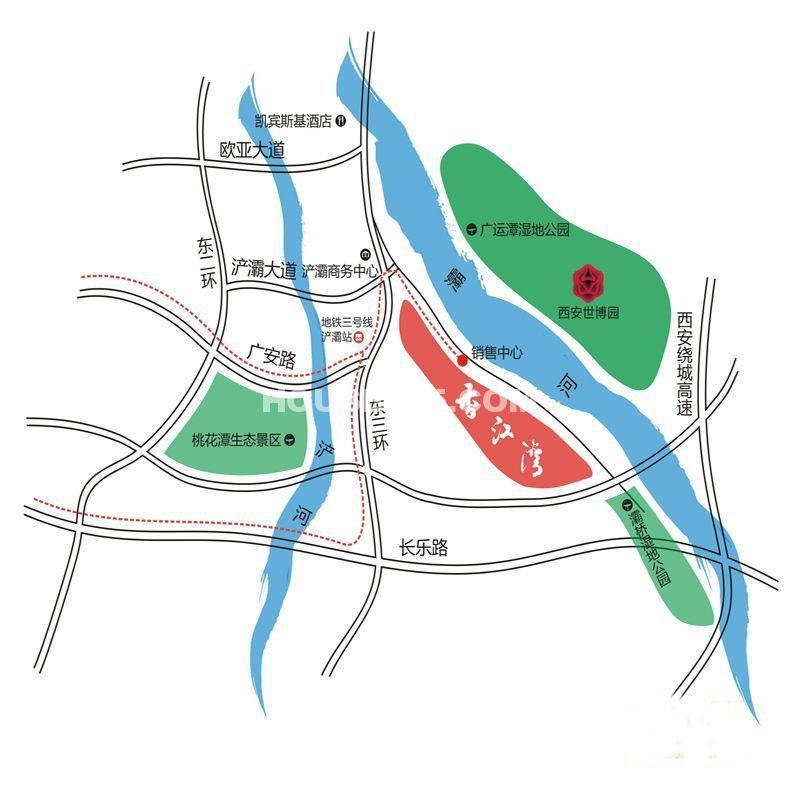 香江湾交通图