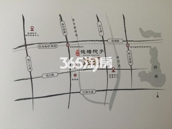 鸿翔·钱塘院子交通图