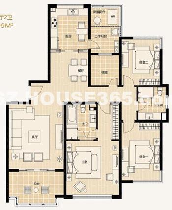 A2-3户型3房2厅2卫约175.5-180.99平米