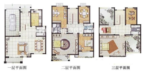 春申湖半岛名墅联排B-03户型6室2厅4卫1厨286.00㎡