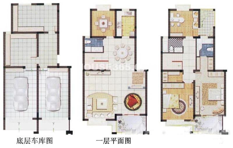 春申湖半岛名墅复式C-01户型4室2厅3卫1厨244.00㎡