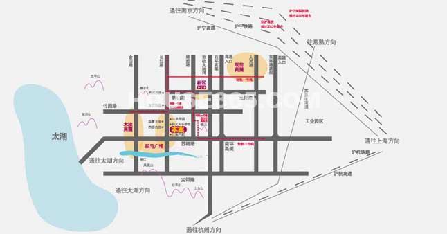 长江壹号交通图