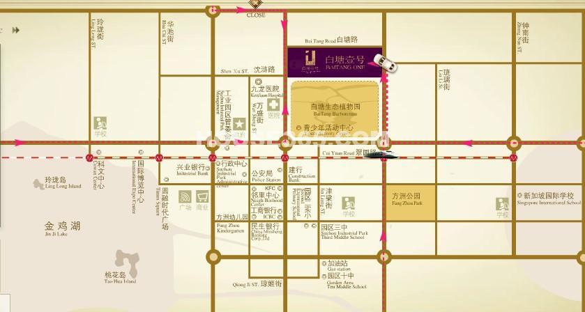 白塘壹号交通图