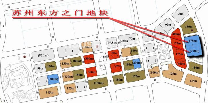 东方之门交通图