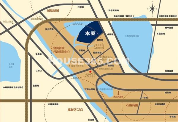 中海御景湾交通图