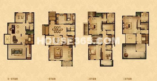 帝宝花园四室二厅四卫298平米双拼别墅