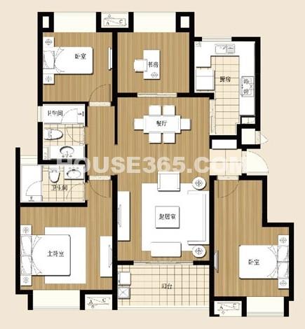 小高层4室2厅2卫132平米