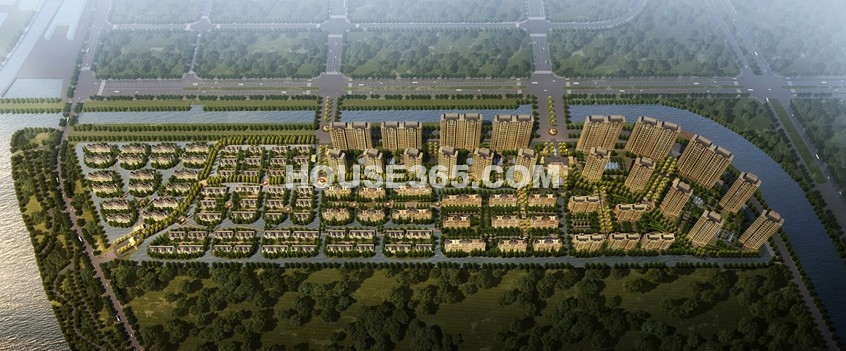 绿地太湖城鸟瞰图