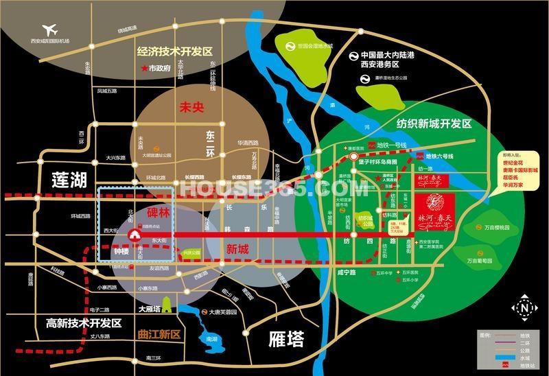 林河春天交通图