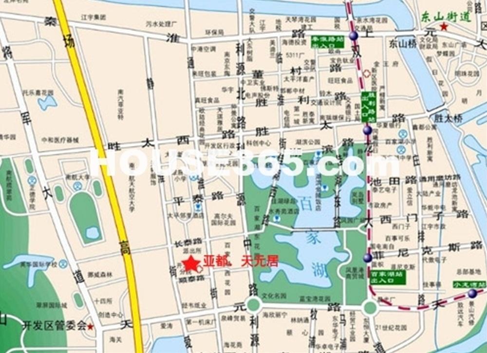 亚都天元大厦交通图